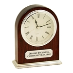 Arched Cherry Desk Clock