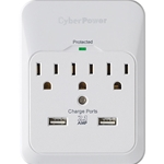 3-OUTLET SURGE WITH 2-USB