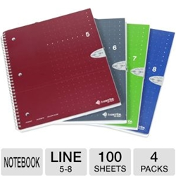 SINGLE SUBJECT NOTEBOOK, 4 PACK 5-8