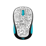 M325c Wireless Brainstorm Teal Mouse