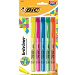 BIC BRITE LINER HIGHLIGHTER ASST CHISEL