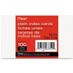 BLANK INDEX CARDS 3X5 100 PACK