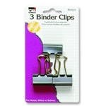 BINDER CLIPS BLACK 1.25IN 3 PK