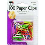 PAPER CLIPS ASSORTED 100 PK