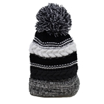 KNIT BEANIE CAP WITH POM POM