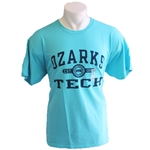 GO TO OTC TEE WITH NAVY LOGO IN LIGHT BLUE