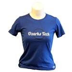 WOMENS ROYAL BLUE ESSENTIAL TEE WITH GLITTERY LOGO