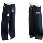 BLACK SWEATPANTS WITH OTC ON LEFT HIP