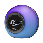iHome Dual Alarm Clock w/ USB Charging - Color Changing