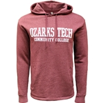 Heather Maroon Hood