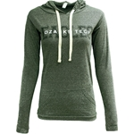 Green Ladies Light Hooded Tee