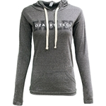 Grey Ladies Light Hooded Tee