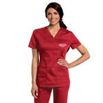 Women's ASN Red Scrub Top