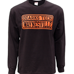 Ozarks Tech Waynesville Long Sleeve Tee w/ Orange Logo