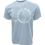 Comfort Colors State Logo Tee - Light Blue