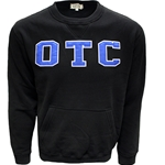 Black Crewneck Sweatshirt w/ White & Royal OTC