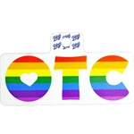 "OTC Pride Rainbow Sticker 2""x2"""