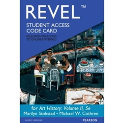 EBOOK + REVEL STUDENT ACCESS CODE CARD FOR ART HISTORY VOLUME II