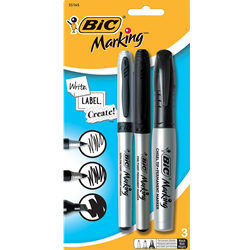 BIC MARK-IT PERMANENT POCKET MARKER ASST