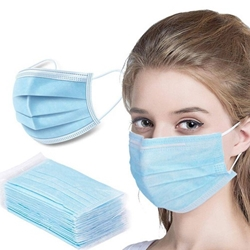 Disposable 3-Ply Woven Fabric Masks 10-Pack